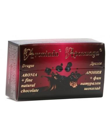 Драже арония с черен шоколад 100гр кутия | Моравско село | Арониада